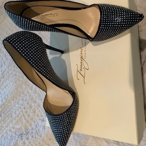 Vince Camuto imagine Studded Navy Pumps 6.5